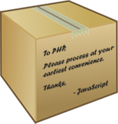 passing javascript variable to php